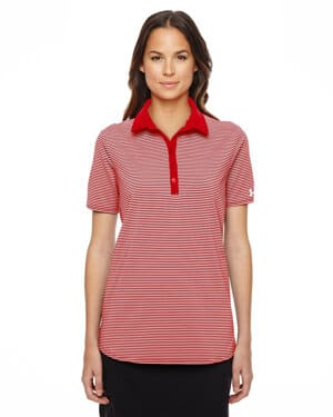 1283944 Under armour ladies' playoff stripe polo