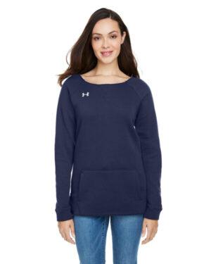 1305784 ladies' hustle fleece crewneck sweatshirt