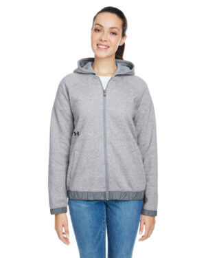 Under armour 1351229 ladies' hustle full-zip hooded sweatshirt