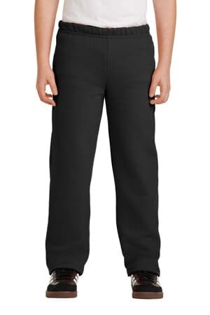 18400B gildan youth heavy blend open bottom sweatpant