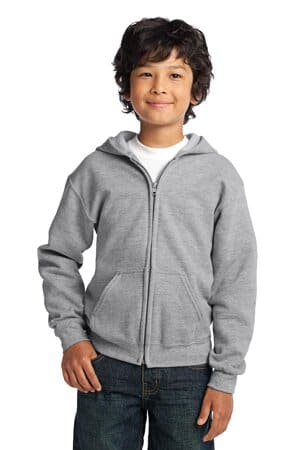 18600B gildan youth heavy blend full-zip hooded sweatshirt