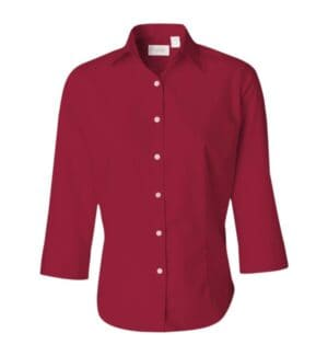 13V0527 Van heusen women's three-quarter sleeve baby twill shirt