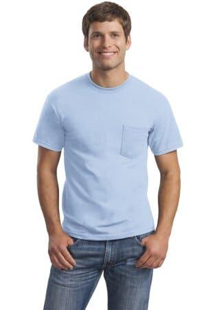 gildan-ultra cotton 100% cotton t-shirt with pocket 2300
