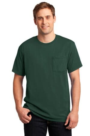 jerzees-dri-power 50/50 cotton/poly pocket t-shirt 29mp