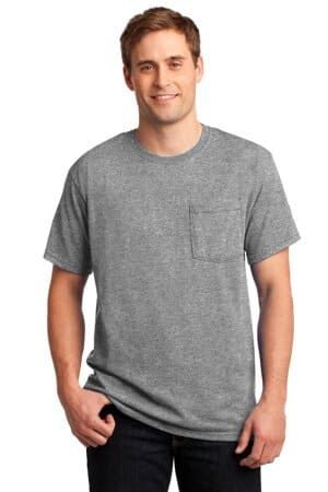 jerzees-dri-power 50/50 cotton/poly pocket t-shirt 29mp