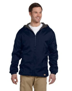 33237 Dickies men's fleece-lined hooded nylon jacket