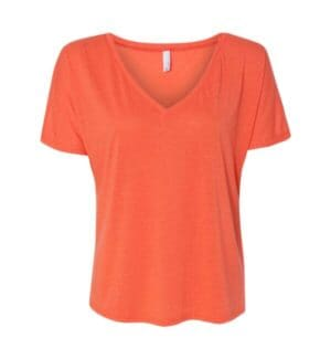 8815 Bella  canvas womens slouchy v-neck tee