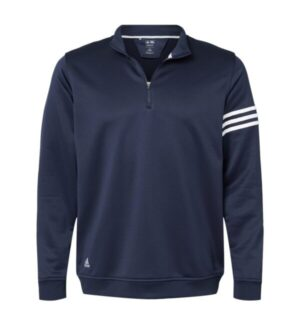Adidas A190 3-stripes french terry quarter-zip pullover