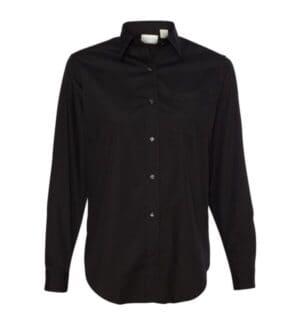 13V0216 Van heusen women's broadcloth long sleeve shirt
