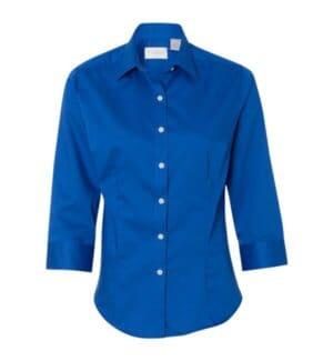 13V0527 Van heusen women's three-quarter sleeve baby twill shirt