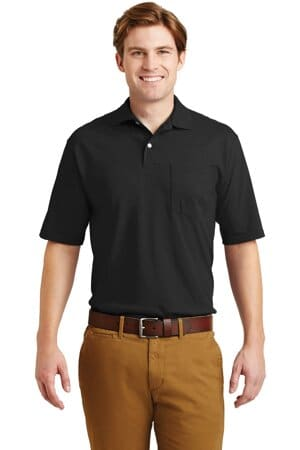 jerzees-spotshield 56-ounce jersey knit sport shirt with pocket 436mp