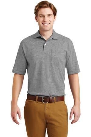 jerzees-spotshield 56-ounce jersey knit sport shirt with pocket 436mp