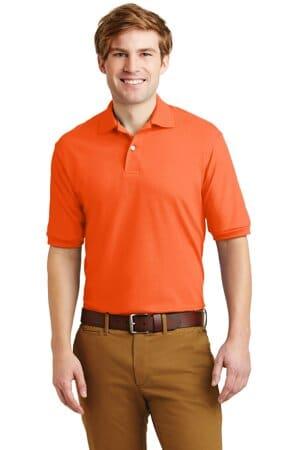 jerzees-spotshield 56-ounce jersey knit sport shirt 437m