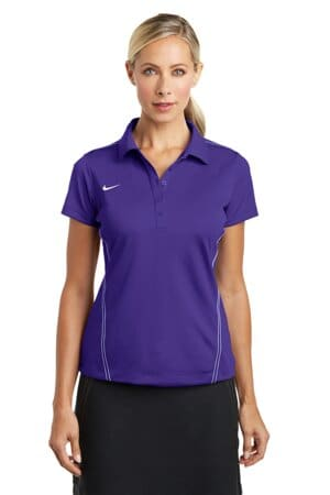 nike ladies dri-fit sport swoosh pique polo 452885