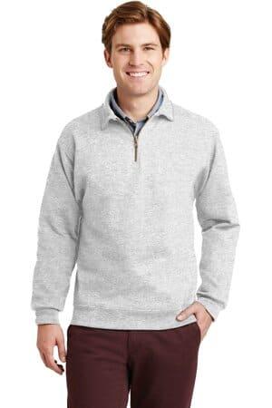 jerzees super sweats nublend-1/4-zip sweatshirt with cadet collar 4528m