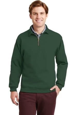 4528M jerzees super sweats nublend-1/4-zip sweatshirt with cadet collar