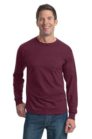 fruit of the loom hd cotton 100% cotton long sleeve t-shirt 4930
