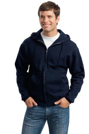 jerzees super sweats nublend-full-zip hooded sweatshirt 4999m