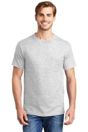 5190 hanes beefy-t-100% cotton t-shirt with pocket