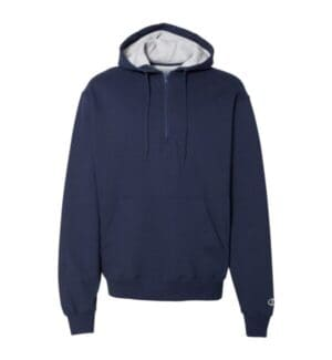 S185 Champion cotton max hooded quarter-zip sweatshirt