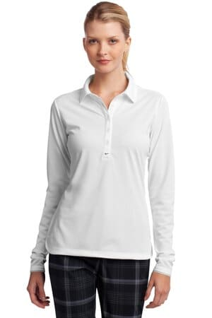 nike ladies long sleeve dri-fit stretch tech polo 545322
