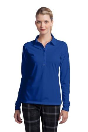 545322 nike ladies long sleeve dri-fit stretch tech polo