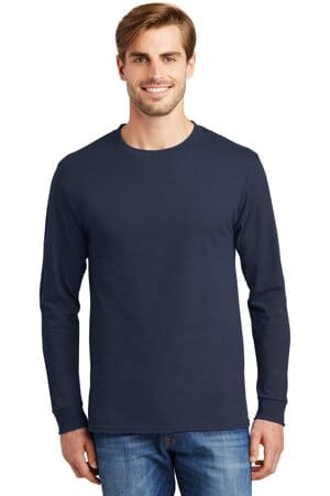 5586 hanes-authentic 100% cotton long sleeve t-shirt
