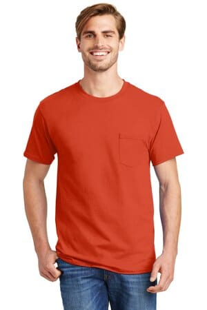 5590 hanes-authentic 100% cotton t-shirt with pocket