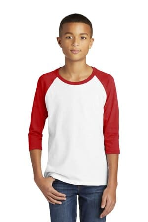 5700B gildan heavy cotton youth 3/4-sleeve raglan t-shirt