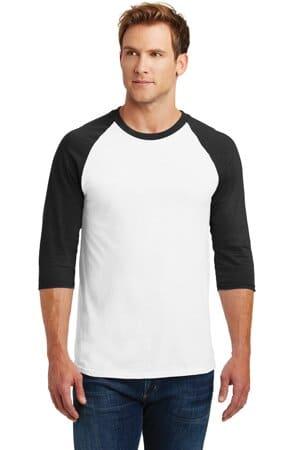5700 gildan heavy cotton 3/4-sleeve raglan t-shirt