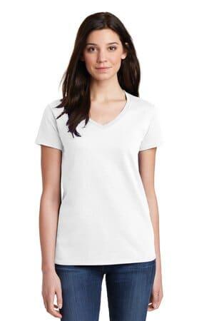 5V00L gildan ladies heavy cotton 100% cotton v-neck t-shirt
