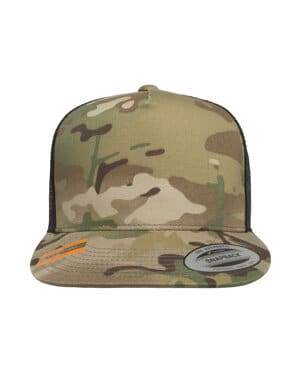 6006MC Yupoong classics adult 5-panel multicam trucker cap