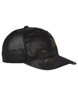 6511MC Yupoong adult flexfit multicam trucker mesh cap