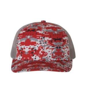 112P Richardson patterned snapback trucker cap