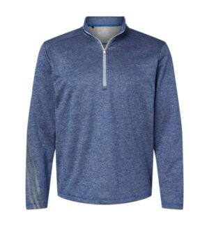Adidas A284 brushed terry heathered quarter-zip pullover