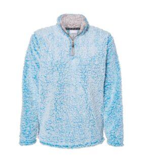 J america 8451 womens epic sherpa quarter-zip pullover