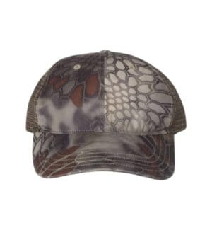 111P Richardson washed printed trucker cap