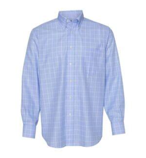 13V0467 Van heusen blue suitings non-iron patterned shirt