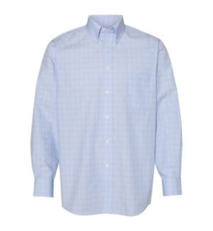 13V0467 Van heusen blue suitings non-iron patterned shirt