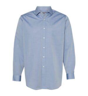 13V0465 Van heusen chambray spread flex collar shirt