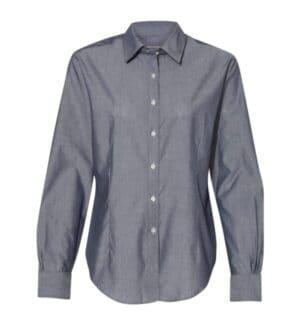 13V0466 Van heusen women's chambray spread collar shirt