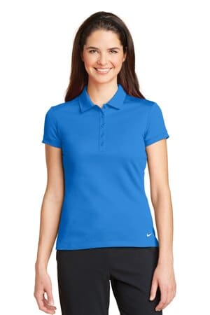 nike ladies dri-fit solid icon pique modern fit polo 746100