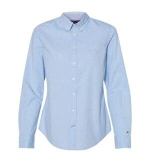 13H4377 Tommy hilfiger women's capote end-on-end chambray shirt