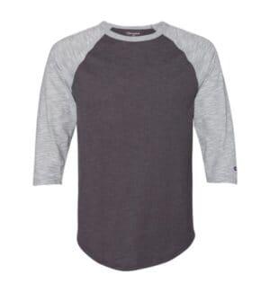 premium fashion raglan three-quarter sleeve baseball t-shirt