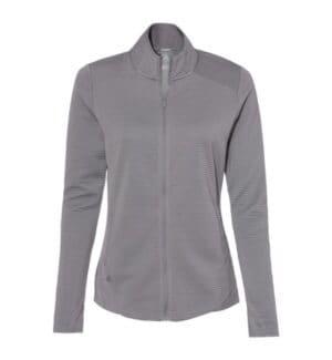 A416 Adidas women's textured full-zip jacket