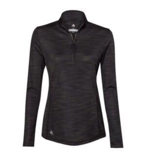 A476 Adidas women's lightweight mlange quarter-zip pullover