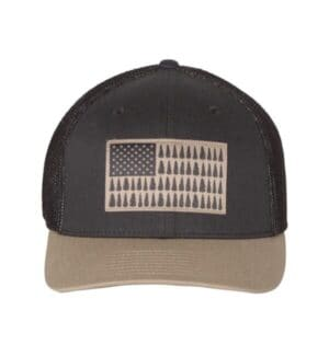 183710 Columbia pfg tree flag mesh flexfit cap