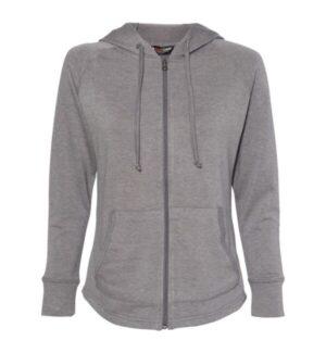 W20121 womens heatlast fleece faux cashmere full-zip hooded sweatshirt