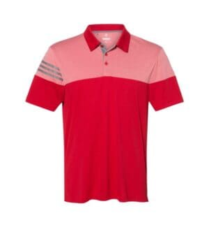 A213 Adidas heather 3-stripes block sport shirt