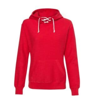 womens french terry sport lace scuba hooded pullover